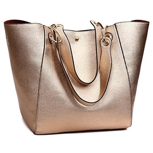 9e0e3a09ad TIBES Fashion Waterproof Shoulder Bag Synthetic Leather Handbag Women Girls  Large Tote Purse