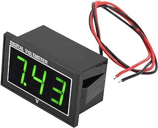Voltmeter, 1-part digital 0.56-inch LED display Waterproof high-precision voltmeter DC voltage measuring panel (DC5-130V-G...