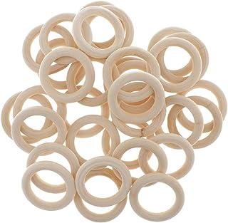 kowaku Unfinished Wooden Rings Circles for Macrame Wall Hanging Craft DIY Kit - as described, 60mm 20pcs