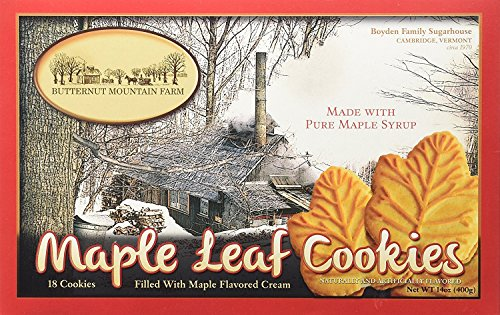 Butternut Mountain Farm Maple Leaf Cookies (Pack 2)
