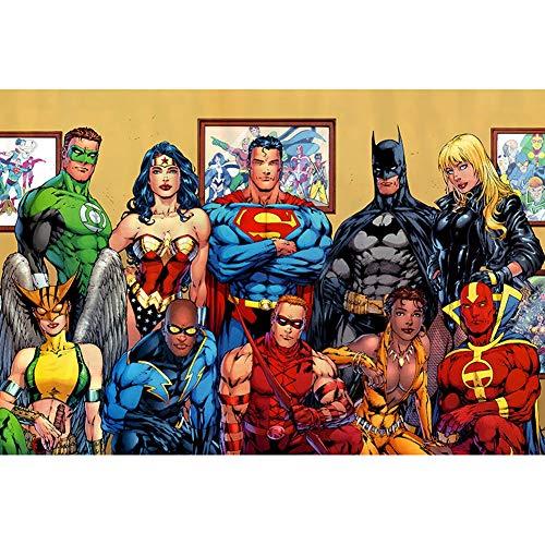 CHENGXI Superhéroe 300/500/1000 Piezas Puzzles Adultos Niños Madera Marvel Superman Cyclops Ms. Marvel Batman Rompecabezas Juguetes, 3 Estilos R/515 ( Color : A , Size : 500 Pieces )