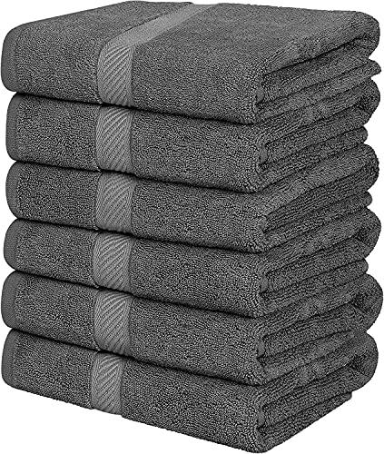 Simpli-Magic Towels, Bath, Gray 6 Count