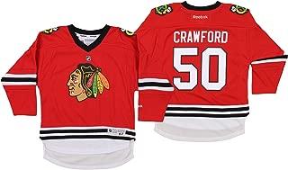 NHL Infant Chicago Blackhawks Corey Crawford #50 Jersey, Red, 4-7