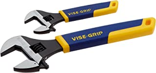 IRWIN VISE-GRIP Adjustable Wrench Set, SAE, 6-Inch & 10-Inch, 2-Piece (2078700)