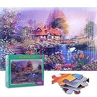 QGGESY 大人、子供、ティーンエイジャー向けの1000ピースのジグソーパズル-人気の教育家族向けおもちゃゲーム,パズル 風景 知育 puzzle(70x50cm)家族向けゲーム用のジグソーセット,color13