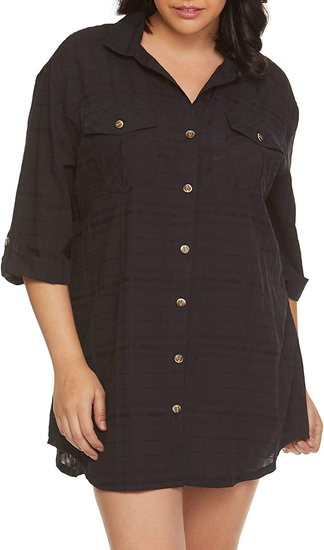 Dotti Plus Size Travel Muse Shirtdress Cover-Up