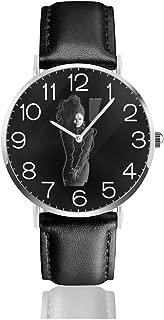 Men's Fashion Minimalist Wrist Watch Janet Jackson Leather Strap Watch