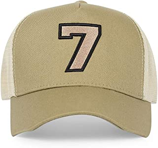#7 Black Trucker Hat