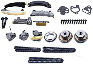 labwork Engine Timing Chain Kit w/Chain Guide Tensioner Sprocket for Buick Enclave Lacrosse Cadillac CTS SRX Chevy Equinox Malibu Traverse GMC Acadia Replace # 9-0753S
