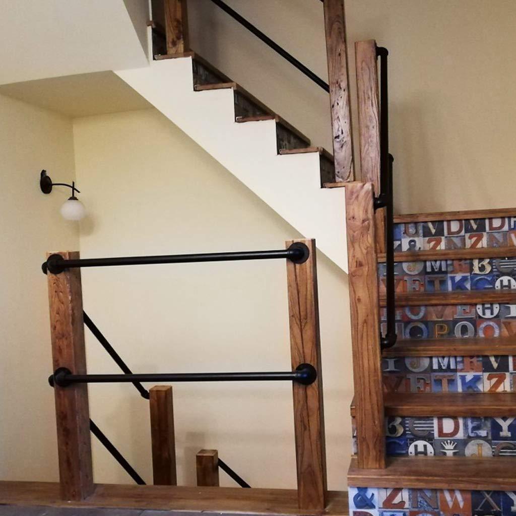 ACZZ Barandilla de escalera Barandilla Barandilla - kit completo (1 pie ~ 20 pies). Industrial de tuberías de escalera Pasamanos Uso de cubierta escalera exterior de ancianos Loft directa a los niños: