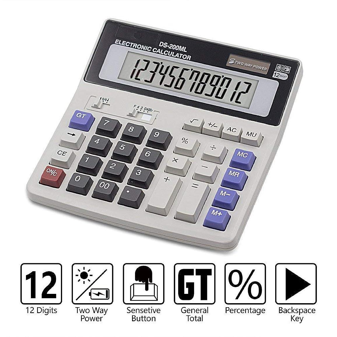 なぜ湿地ダーベビルのテスLesin C200ML デュアルパワー 手持ち 電子 ビジネス ソーラー ベーシック 電卓