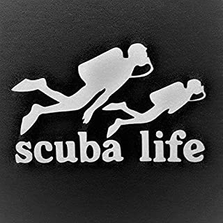 Chase Grace Studio Scuba Life Scuba Dive Diving Vinyl Decal Sticker|White|Cars Trucks SUVs Vans Laptops Walls Glass Metal|...