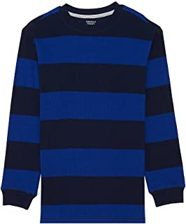 French Toast Boys' Long Sleeve Rugby Stripe Thermal Tee