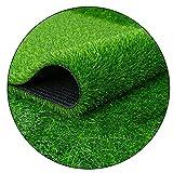 Prato erba artificiale multifunzionale 25mm - tappeto erboso spesso ad alta densità, antiscivolo e impermeabile, facile da pulire, per decorazione di calcio indoor/outdoor, larghezza 2m(Size:2×2m)