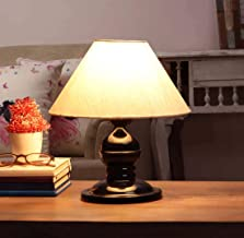 VRCT Khadi Shade and Beautiful Table Lamp for Bedroom and Drawing Room (Black)