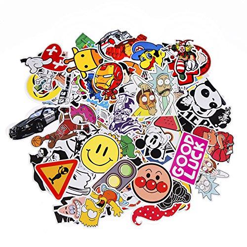 Neuleben Aufkleber Pack [100-pcs] Graffiti Sticker Decals Vinyls für Laptop, Kinder, Autos, Motorrad, Fahrrad, Skateboard Gepäck, Bumper Sticker Hippie Aufkleber Bomb wasserdicht (Serie-7)