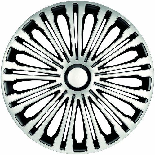 ZentimeX Z733018 Radkappen Radzierblenden universal 16 Zoll silver-black