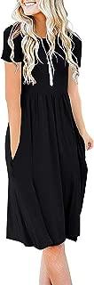 DB MOON Women's Casual Summer Empire Waist Tshirt Dresses...