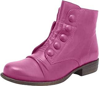 DAIFINEY Dames winterlaarzen retro korte schacht laarzen enkellaars effen halve laarzen laarzen bootie instaplaarzen sneeu...
