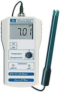 Milwaukee Instruments MW101 Standard Portable pH Meter, 0 DegreeC to 50 Degree C Temperature Range, 0.01 pH Resolution, 14...