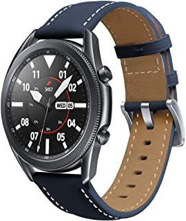 accessoryME Band Compatible with Samsung Galaxy Watch 3 45mm / 46mm, 22mm Genuine Leather Quick Release Watch Strap for Ge...