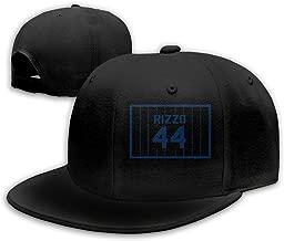 Men Women Anthony-Rizzo-Number #44 Baseball Cap Classic Adjustable Plain Hat Black