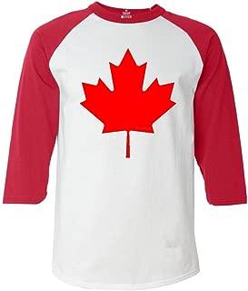 Canada Red Leaf Raglan Baseball Shirt