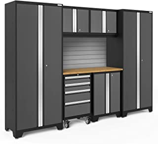 NewAge Products Bold 3.0 Gray 7 Piece Set, Garage Cabinets, 50418