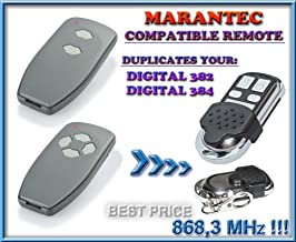 Marantec D302-868 4-canales reemplazo transmisor Al mejor precio!!! D304-868 compatible mando a destancia 868,3Mhz fixed code CLON