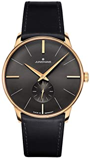 Junghans Meister PVD Hand Winding Wrist Watch | Black Horse Leather Strap 027/5903.00