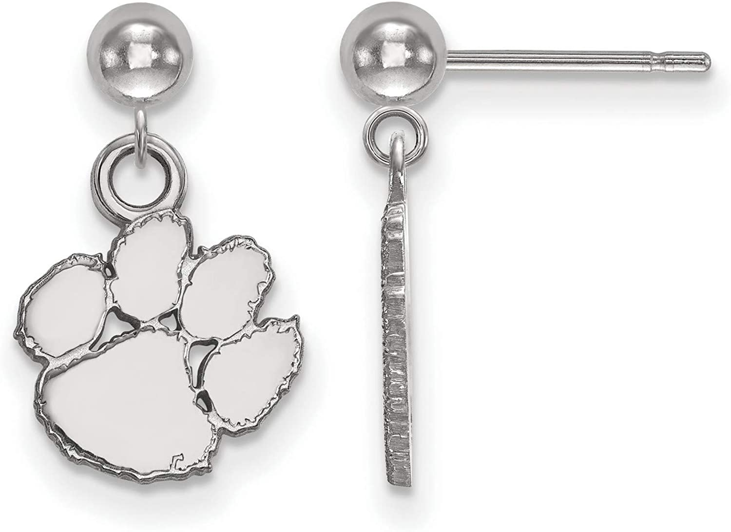 14k White Gold Clemson University Mascot Tigers Paw School Ranking TOP12 Dangl Popular shop is the lowest price challenge