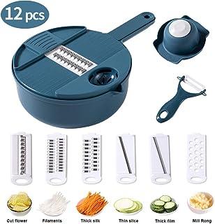 Cortador de verduras mreechan,12 en 1 cortador de verduras, cortador de frutas,cortador de cebolla,se puede utilizar como una cesta de verduras,un buen ayudante en la cocina sin lastimar se las manos