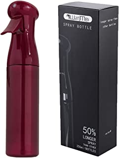 CCbeauty Fine Mist Spray Bottle 8.5Oz/250ML Continuous Empty Curly Misting Bottle for Hair Styling, Plants, Cleaning, Red