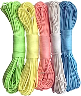 QKKstore Glow in The Dark Luminous Paracord Parachute Cord Lanyard Rope 100 Ft (31M) 9 Strands Cores
