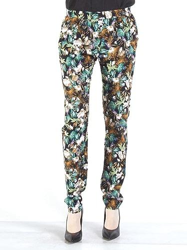 voiturerera Jeans - Pantalon 771 pour Femme, Style Droit, Viscose, Taille Loose, Taille Normale