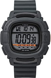 Timex Men's Grey Dial Silicone Band Watch - TW5M26700