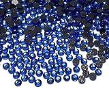 Perlin Hotfix SS16 - 2880 piedras redondas de cristal (4 mm, 3,4 ~ 4 mm), color azul zafiro