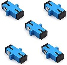 TEZONG SC Coupler Fiber Optic Adapter Flange SC to SC Singlemode Simplex UPC Fiber Connector 5 Pack