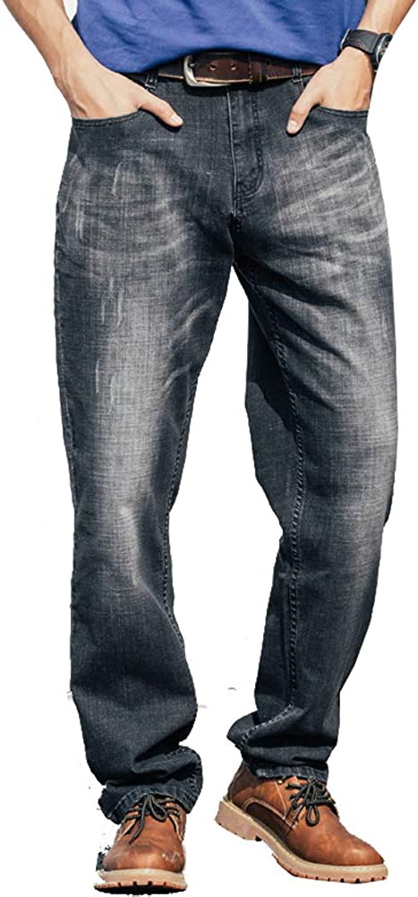 LIYT Men's Big and Tall Relaxed Loose Straight-L Jean Outlet SALE Free shipping anywhere in the nation Simple Fit