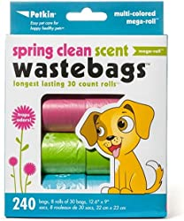 Petkin Spring Clean Waste Bags - 240 count