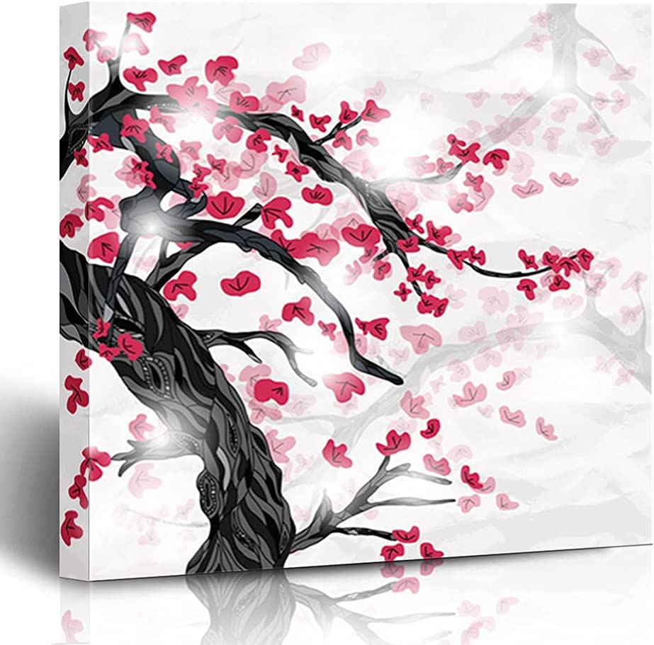 GANG Canvas Prints Decoration Max Ranking TOP8 65% OFF White Painted Chrysanthemum Stem L