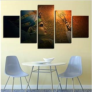مطبوعات Fifikoj Canvas HD من ملصقات غرفة المعيشة 5 قطع لوحات كوين من مصر جدار جدار فني تجريدي صور ديكور المنزل  20x30/40/50cm