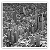 Impresionantes pegatinas cuadradas (juego de 2) 10 cm BW – Bogotá Colombia City Cityscape Fun Decals para portátiles, tabletas, equipaje, reserva de chatarras, frigoríficos, regalo fresco #42612