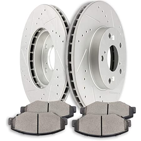 Stirling Front Disc Brake Rotors and Ceramic Brake Pads For 2018 Honda CR-V EX-L 1.5 Liter L4 Two Years Warranty