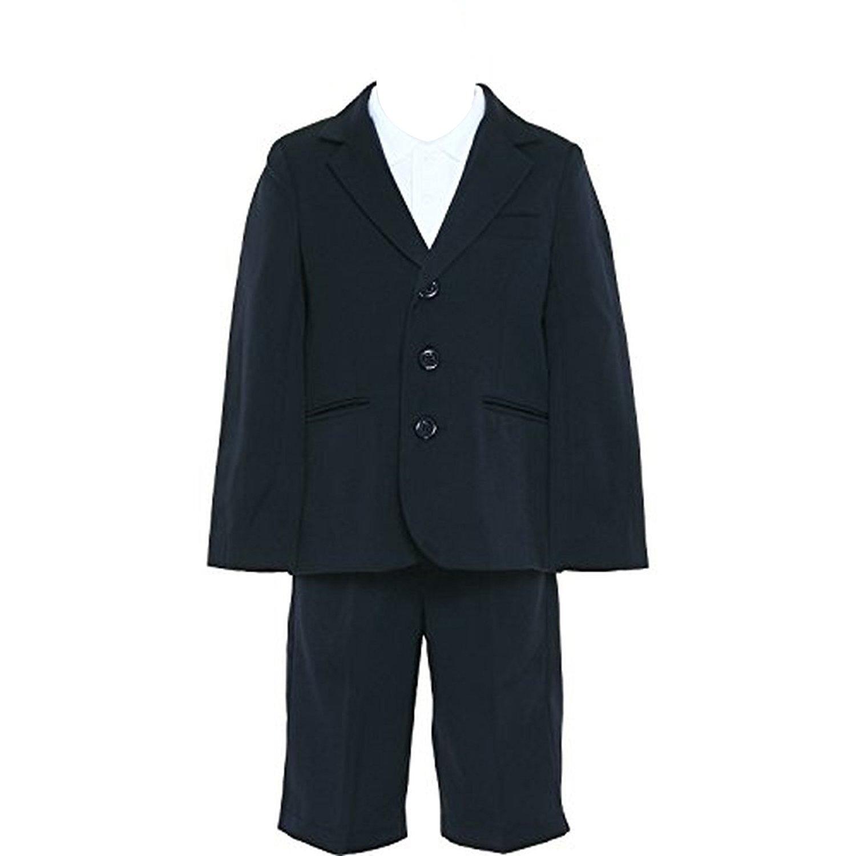 ハッピクローバー お受験面接?入園入学用 濃紺無地男の子スーツ 100~130cm 日本製 boys-suits