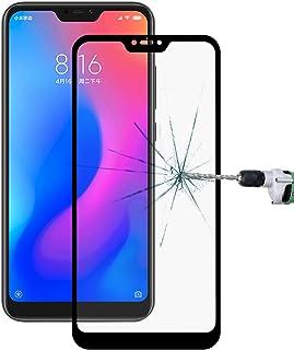 Good Ultra Thin 9H 3D HD Anti-burst Full Screen Carbon Fiber Tempered Glass Film for Xiaomi Redmi Note 6 (Black) Dualn (Co...