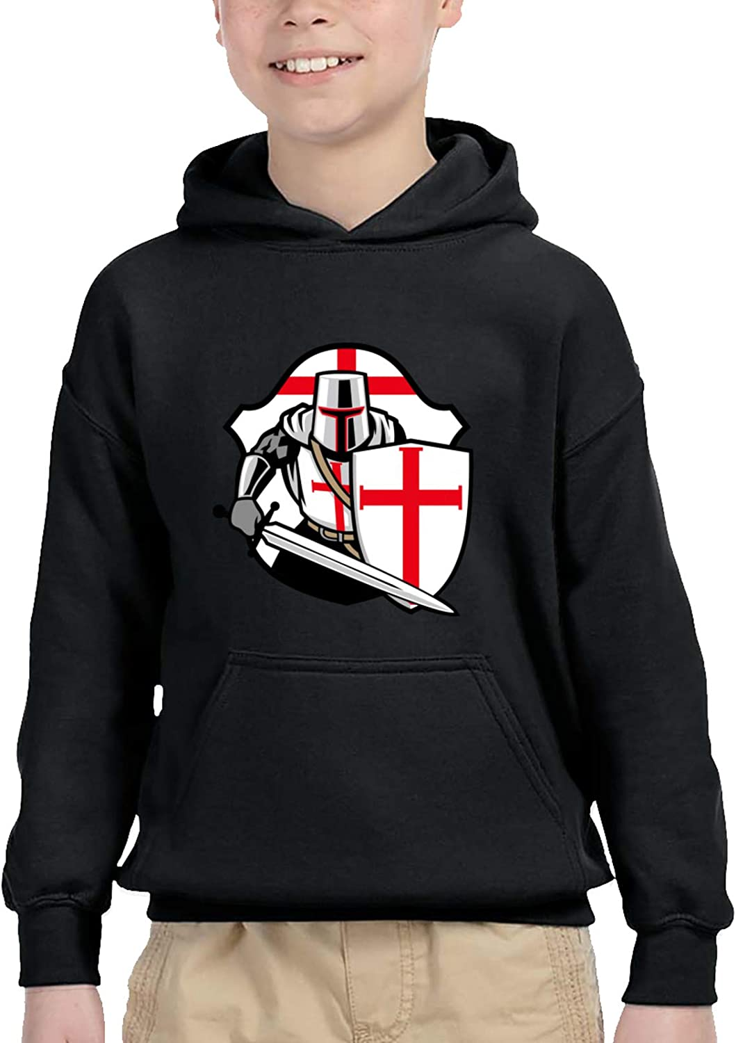 Templar Knight Symbol Children'S Hooded Sweater Casual Sweater For Baby Boys Girls