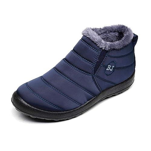 Zapatos Mujer Botas de Nieve Invierno Forro Calentar Tobillo Al Aire Libre  Zapatillas Altas Outdoor Antideslizante e155cd748d050