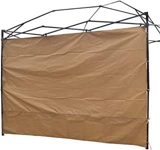 NINAT Canopy Sidewalls 10 ft Sunshade Privacy Panel for Gazebos Tent Waterproof,Khaki