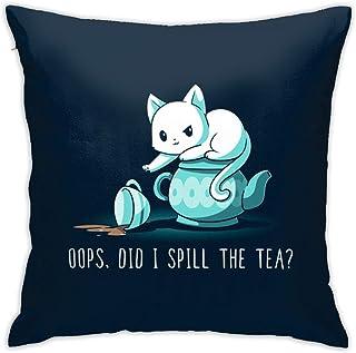F.G. MINGSHA Throw Pillow Cover Cartoon Cute Cat Fox Pillow Cases for Home Decor Design Set Cushion Case for Sofa Bedroom Car Standard Size 18 x 18 Inch